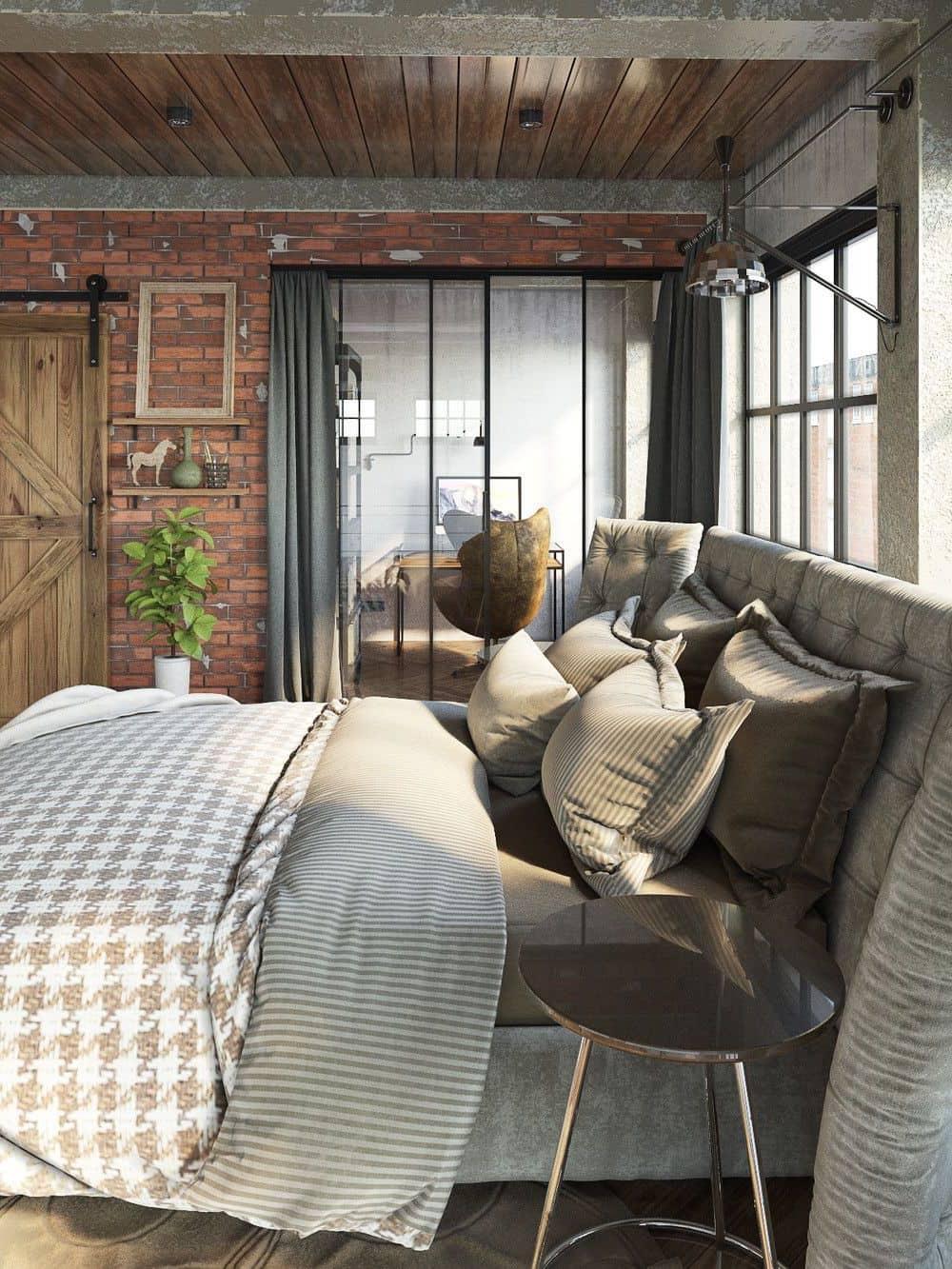 La brique et le béton nu sont parfaits pour les personnes qui préfèrent l'impeccabilité du style loft.