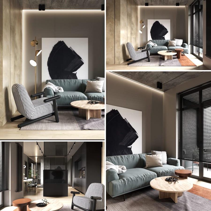 Design de salle de séjour à la mode photo 25