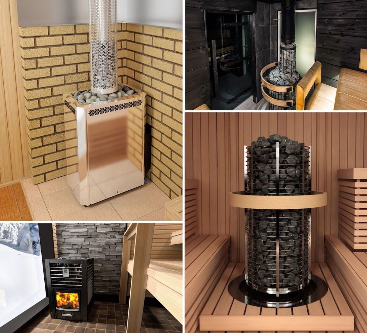 Le poêle de sauna de type ouvert convient aux amateurs de températures élevées dans le hammam avec une faible humidité.