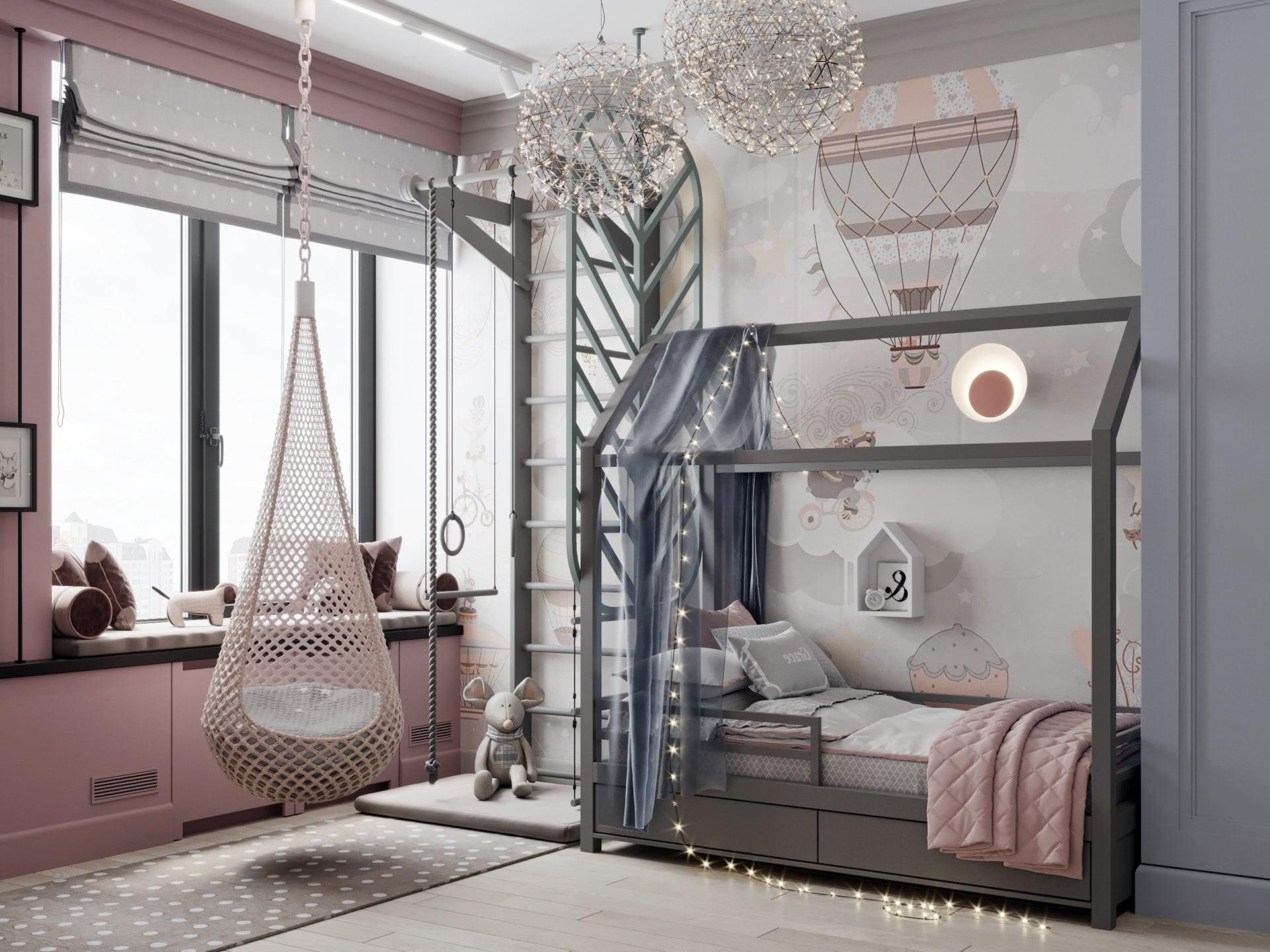 chambre de bébé fille photo 9