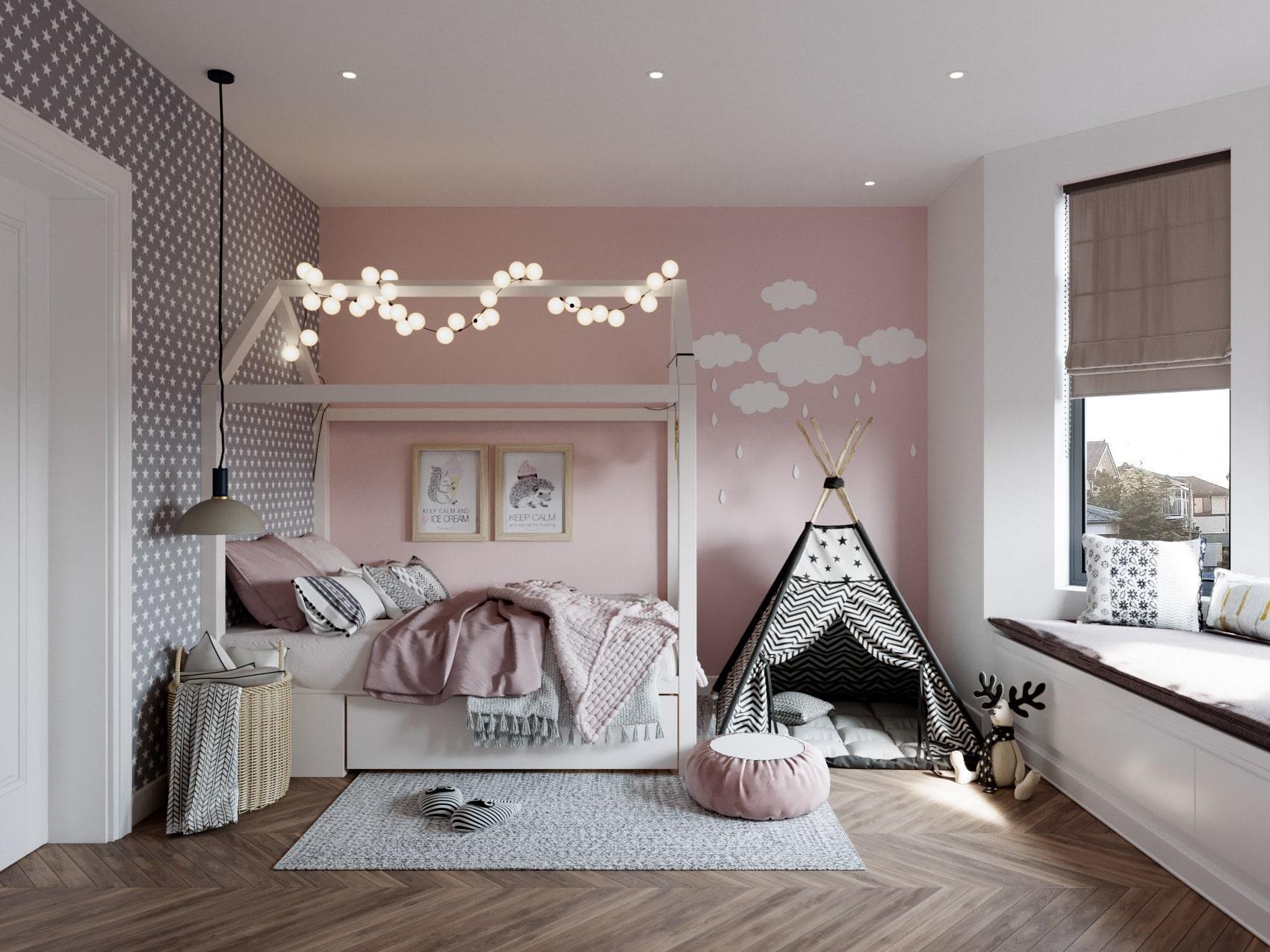 chambre de bébé fille photo 10
