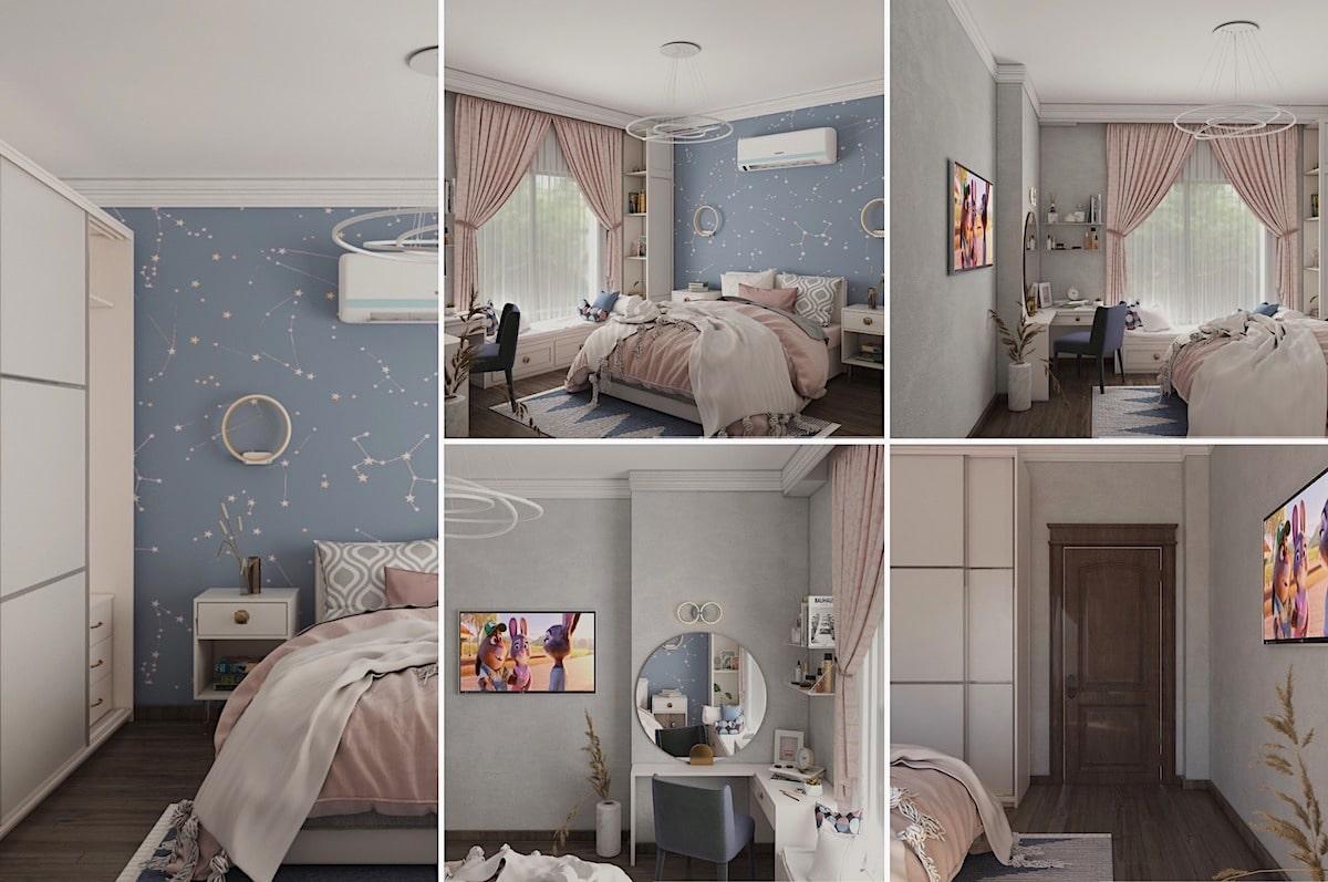 chambre de bébé fille photo 37