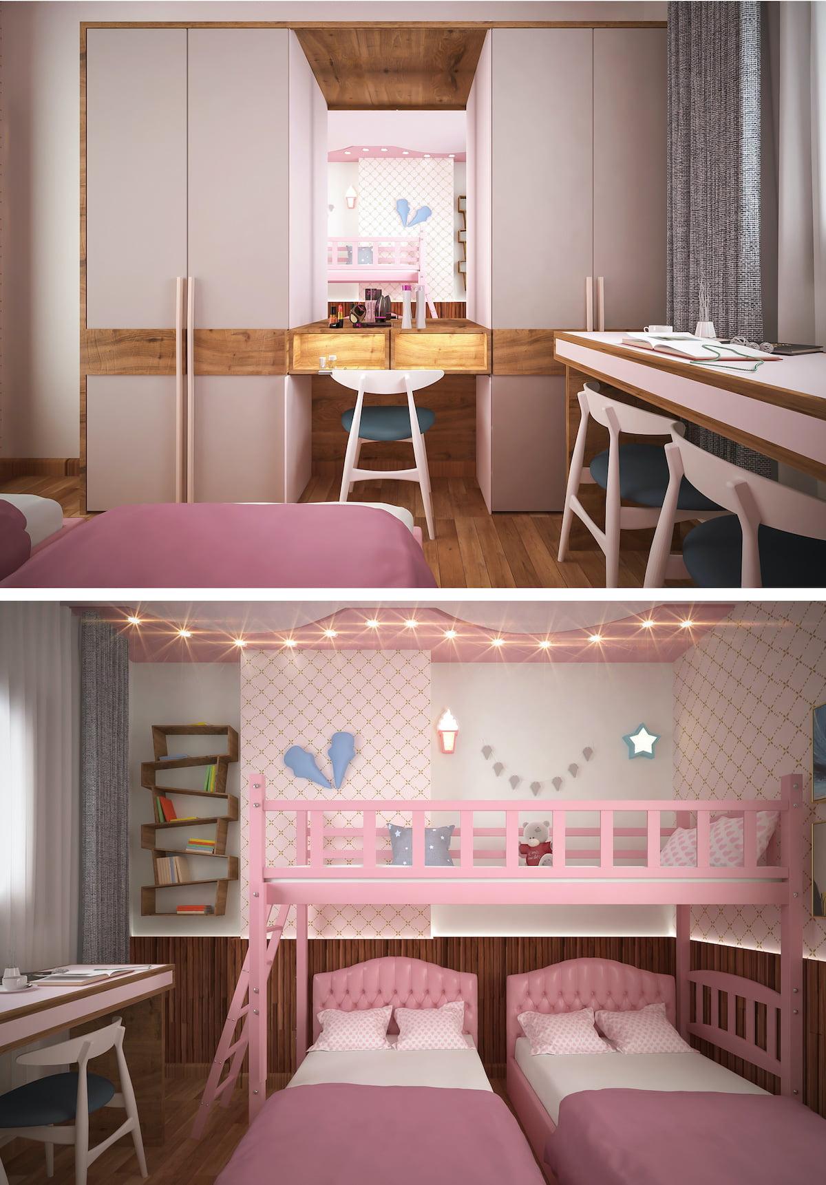 Photo de la chambre d'une petite fille 25