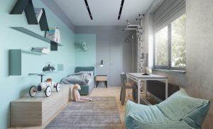 Aménagement d'une chambre d'enfant pour un garçon
