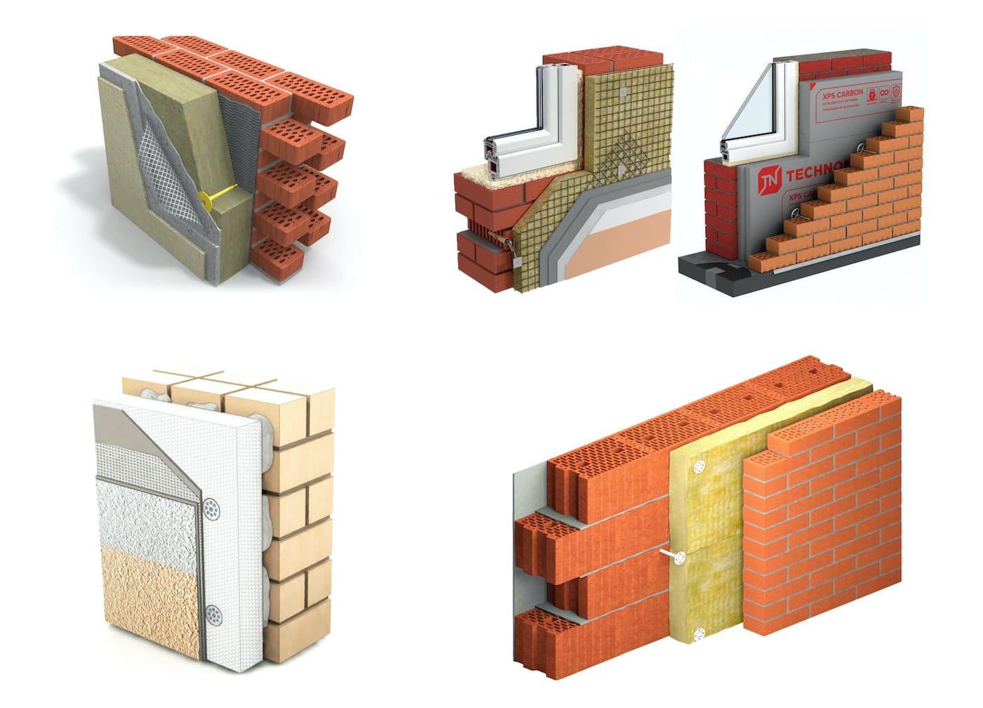Способы утепления кирпичных стен различным материалом