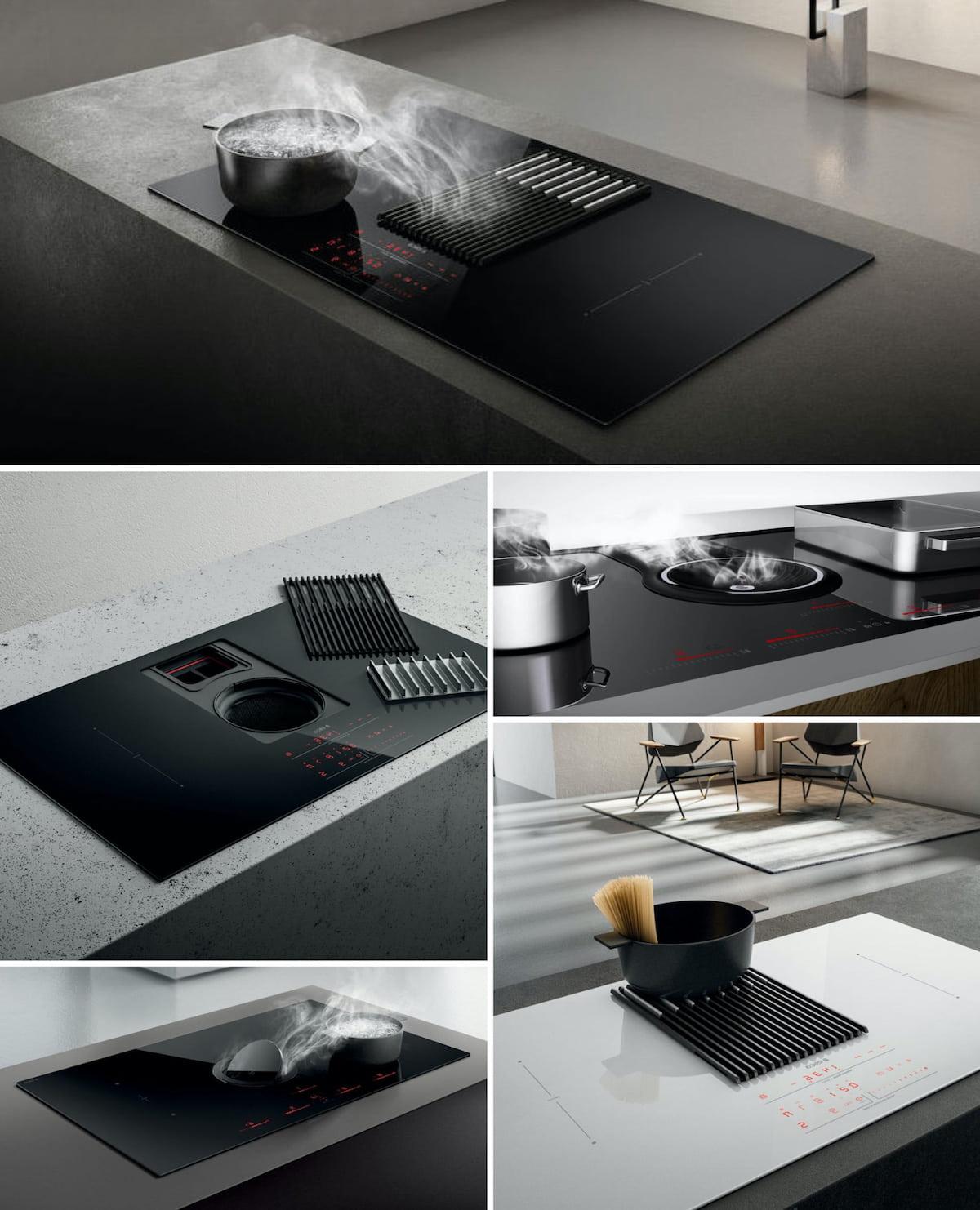 Table de cuisson avec hotte aspirante intégrée