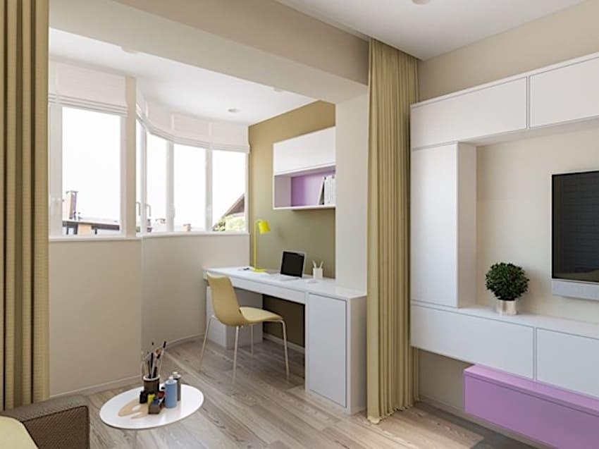 присоединения балкона или лоджии к комнате 1