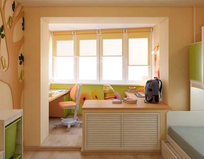 присоединения балкона или лоджии к комнате 2