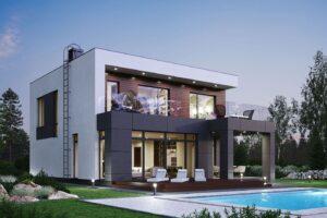 проект дома в стиле хай тек фото 16