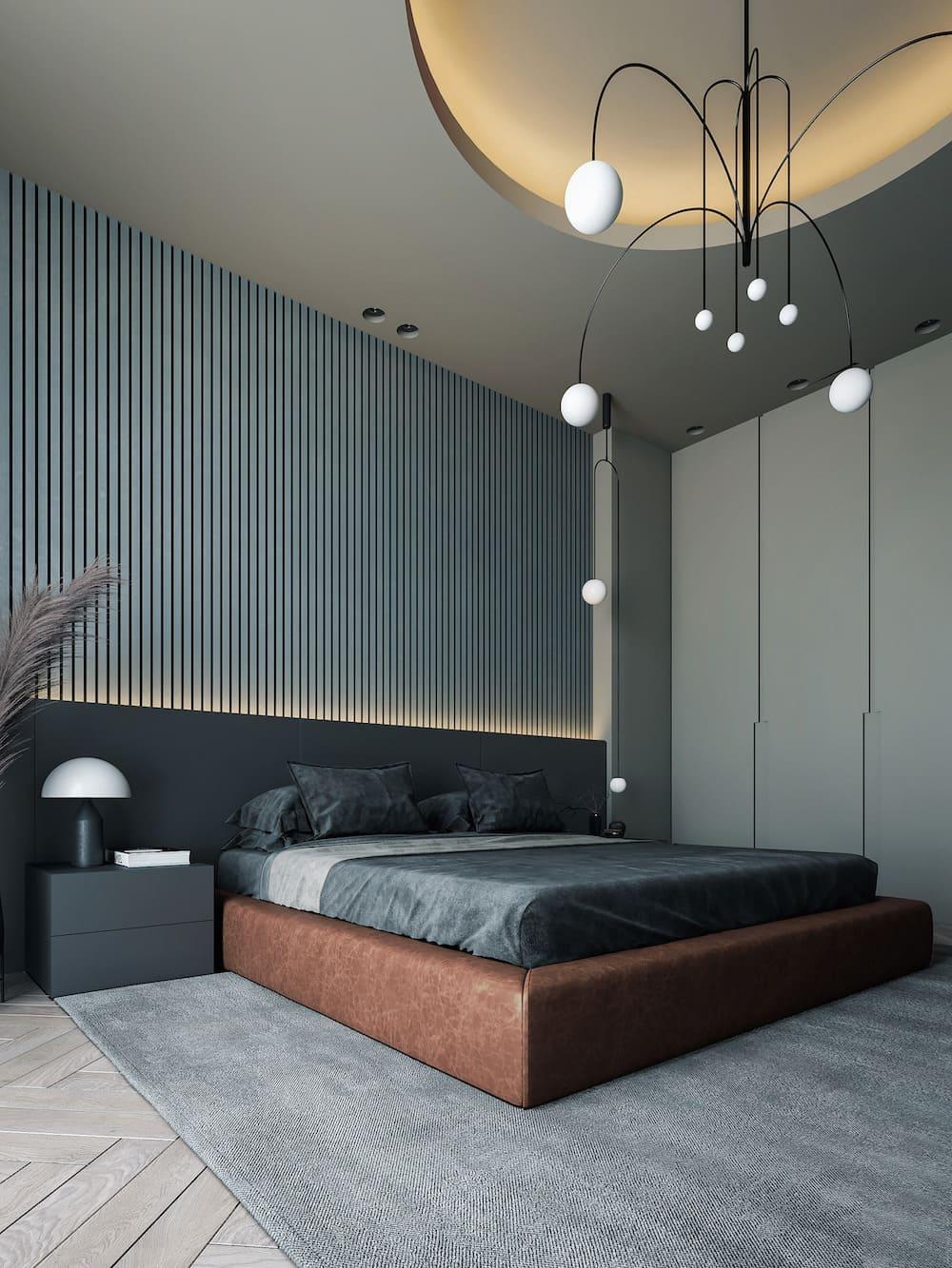 Intérieur de chambre à coucher tendance photo 22