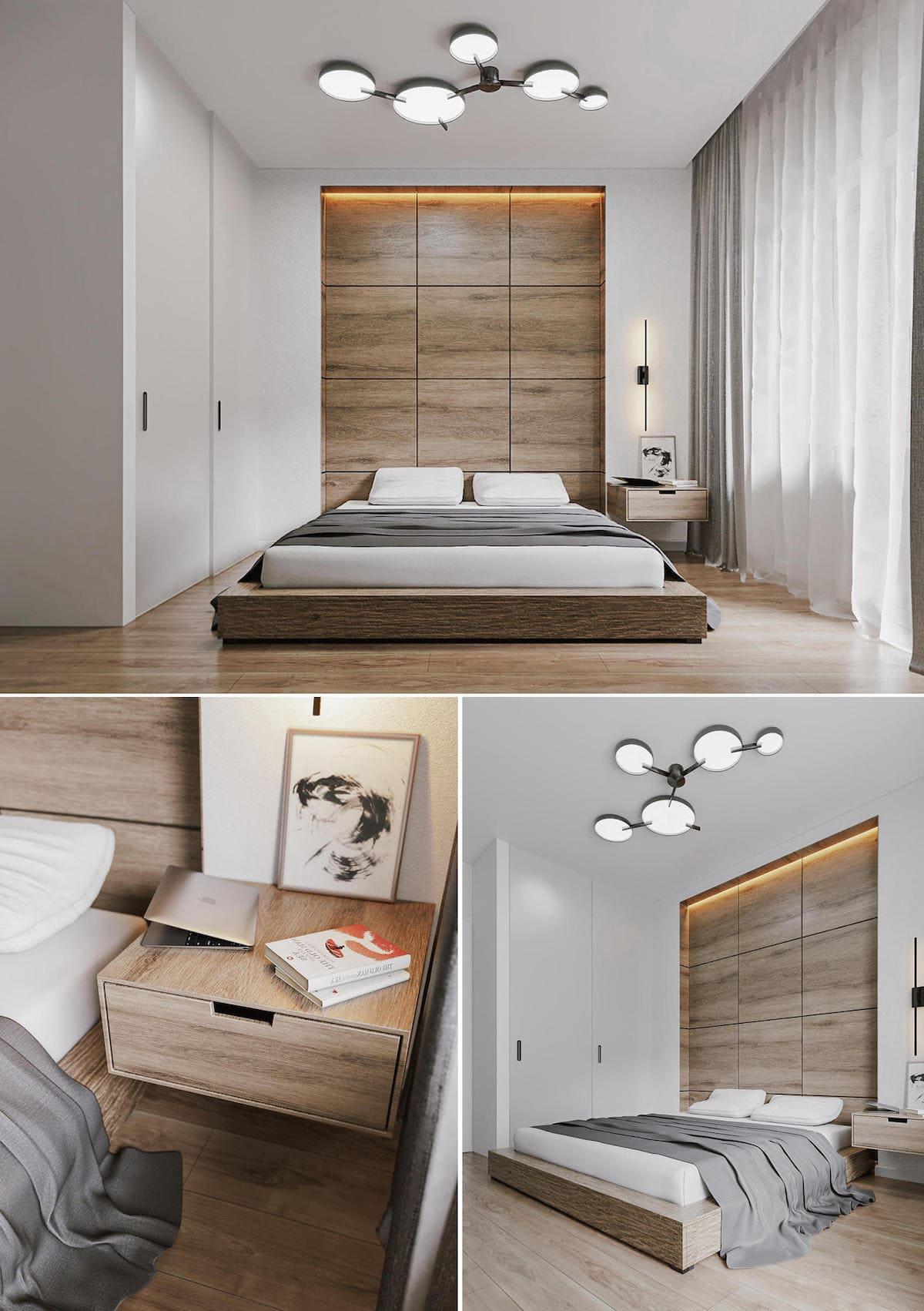 Intérieur de chambre à coucher tendance photo 7