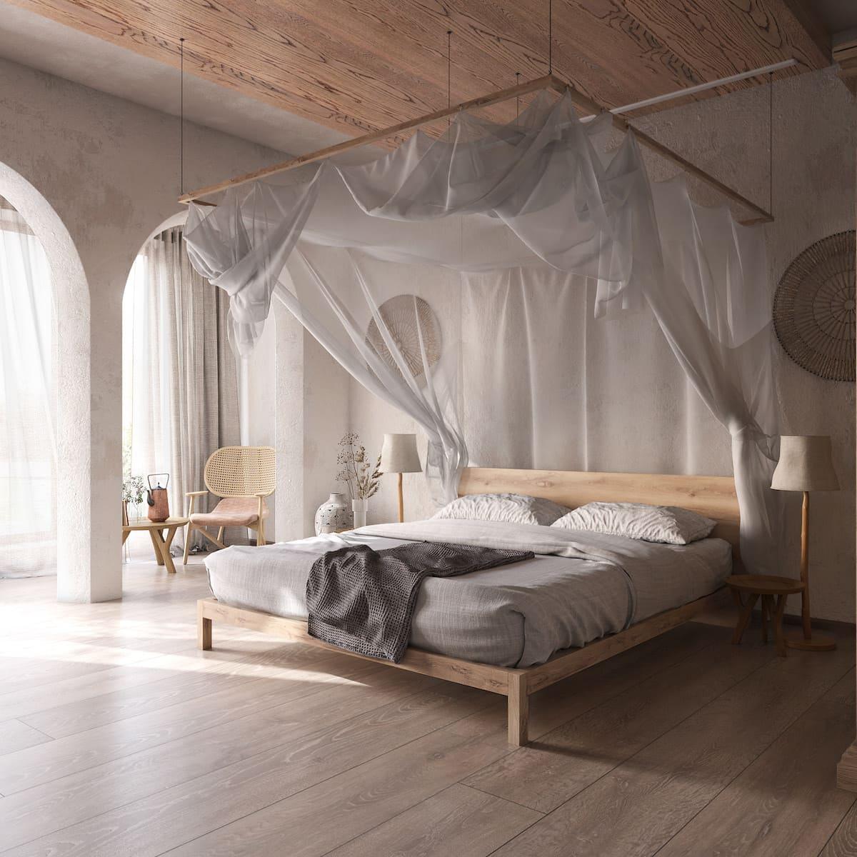 Intérieur de chambre à coucher tendance photo 28
