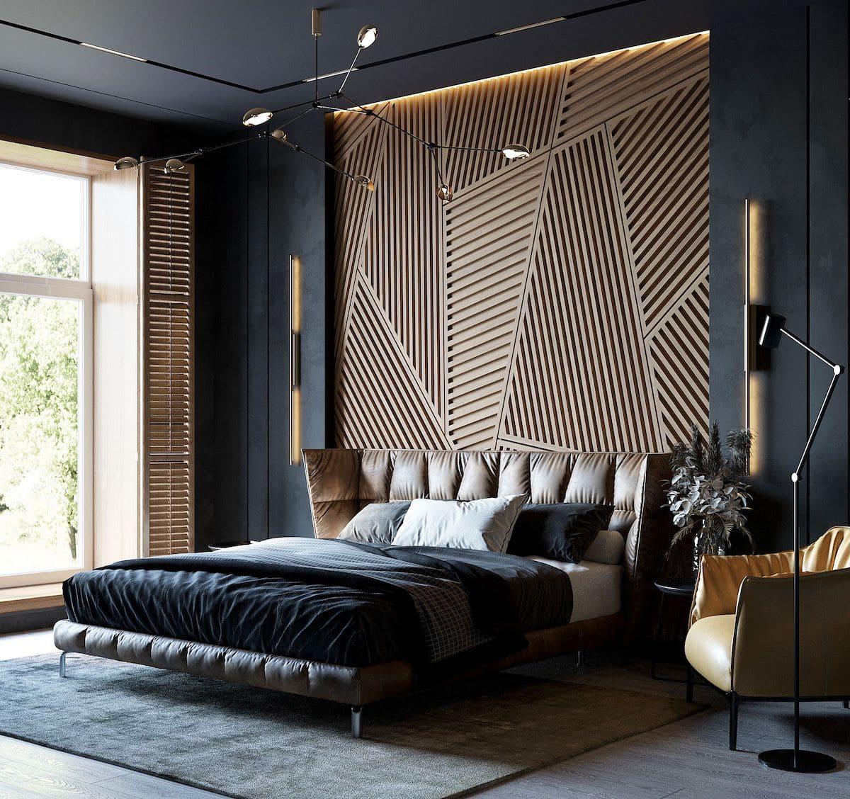 Intérieur de chambre à coucher à la mode photo 11