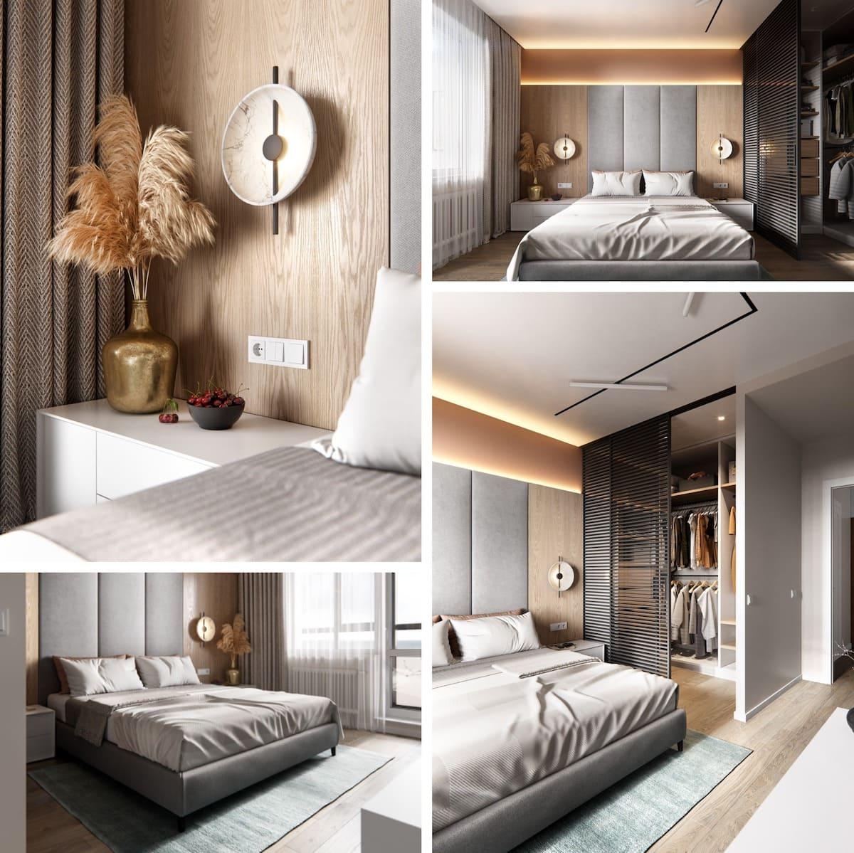 Intérieur de chambre à coucher tendance photo 30