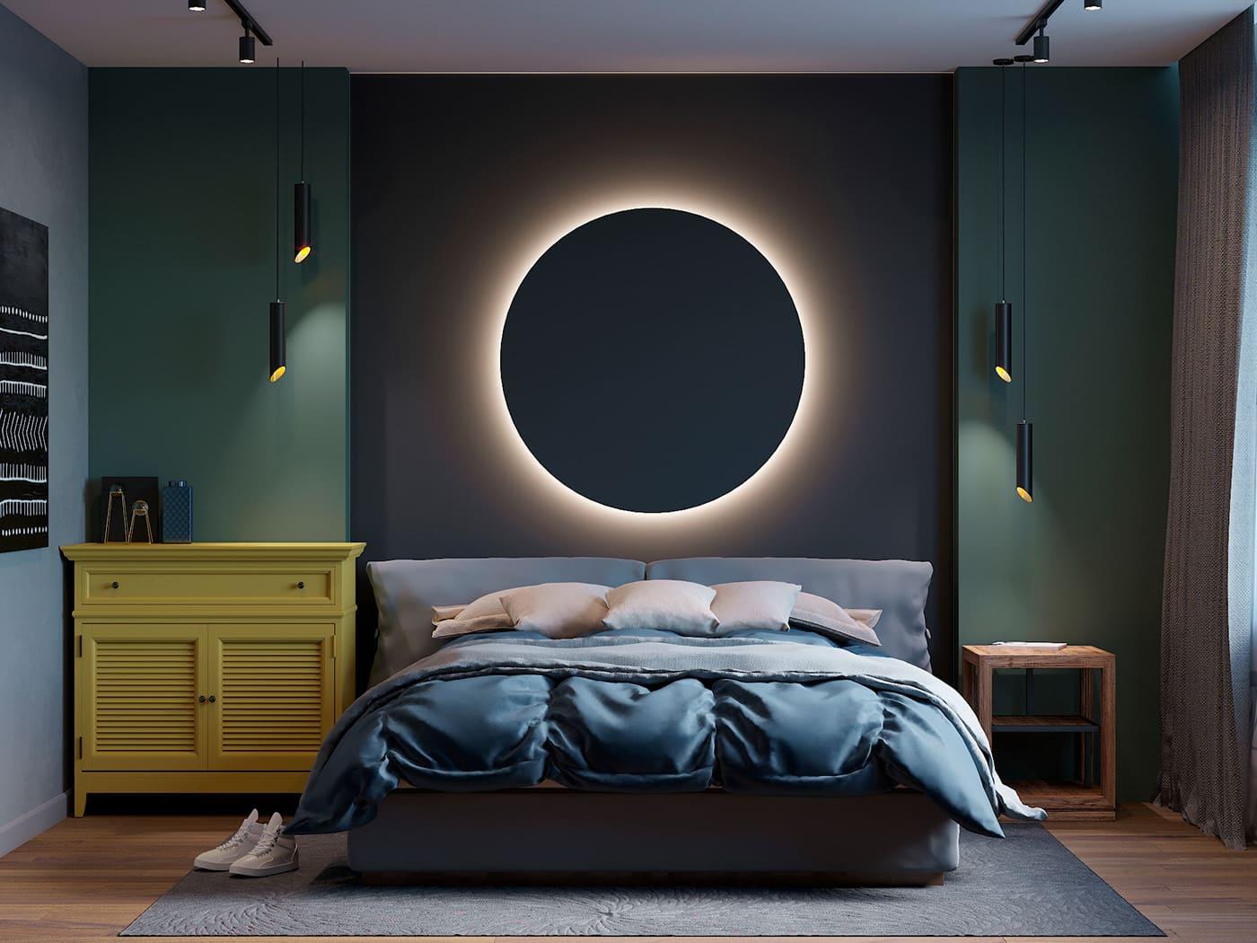 Intérieur de chambre à coucher tendance photo 5