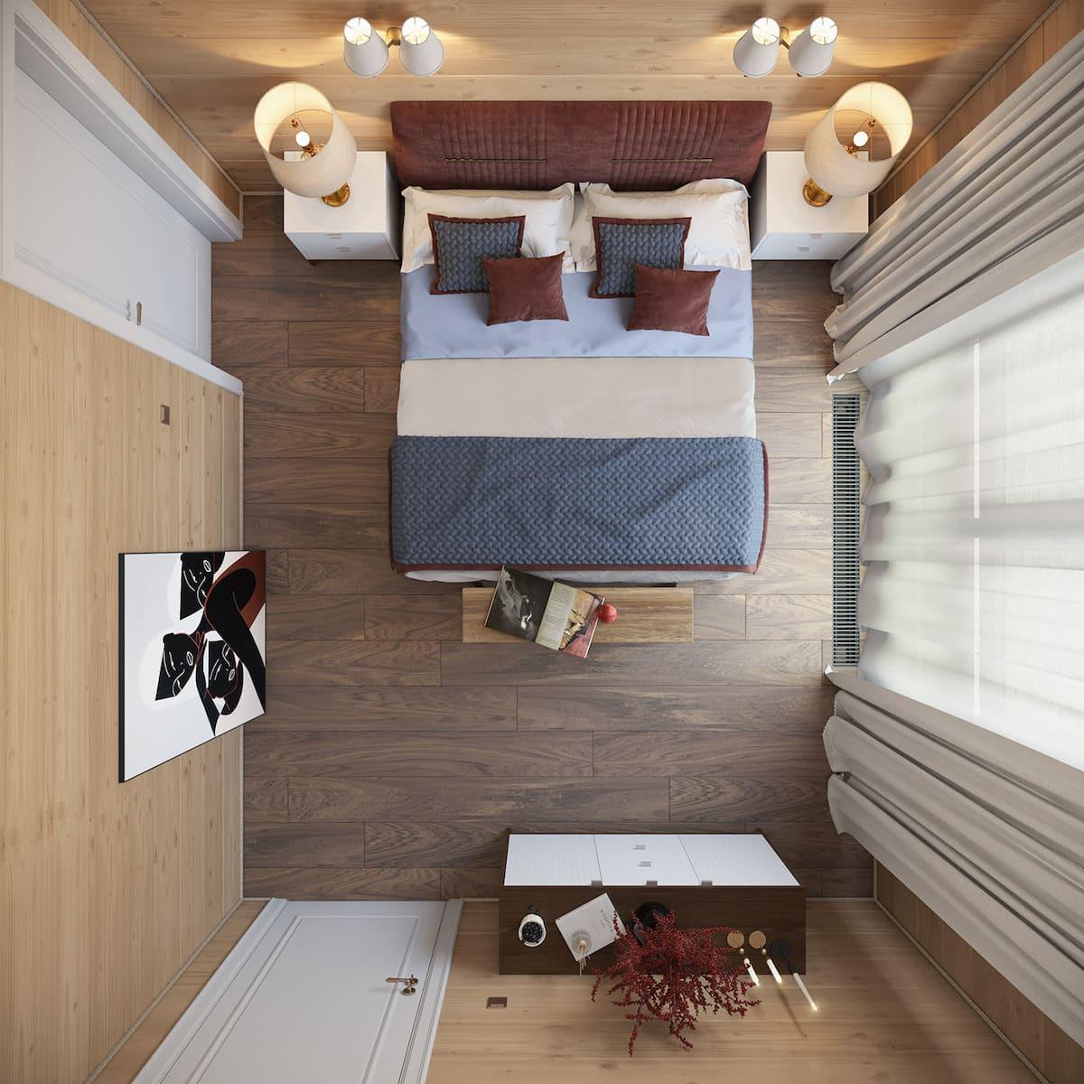 Intérieur de chambre à coucher tendance photo 1
