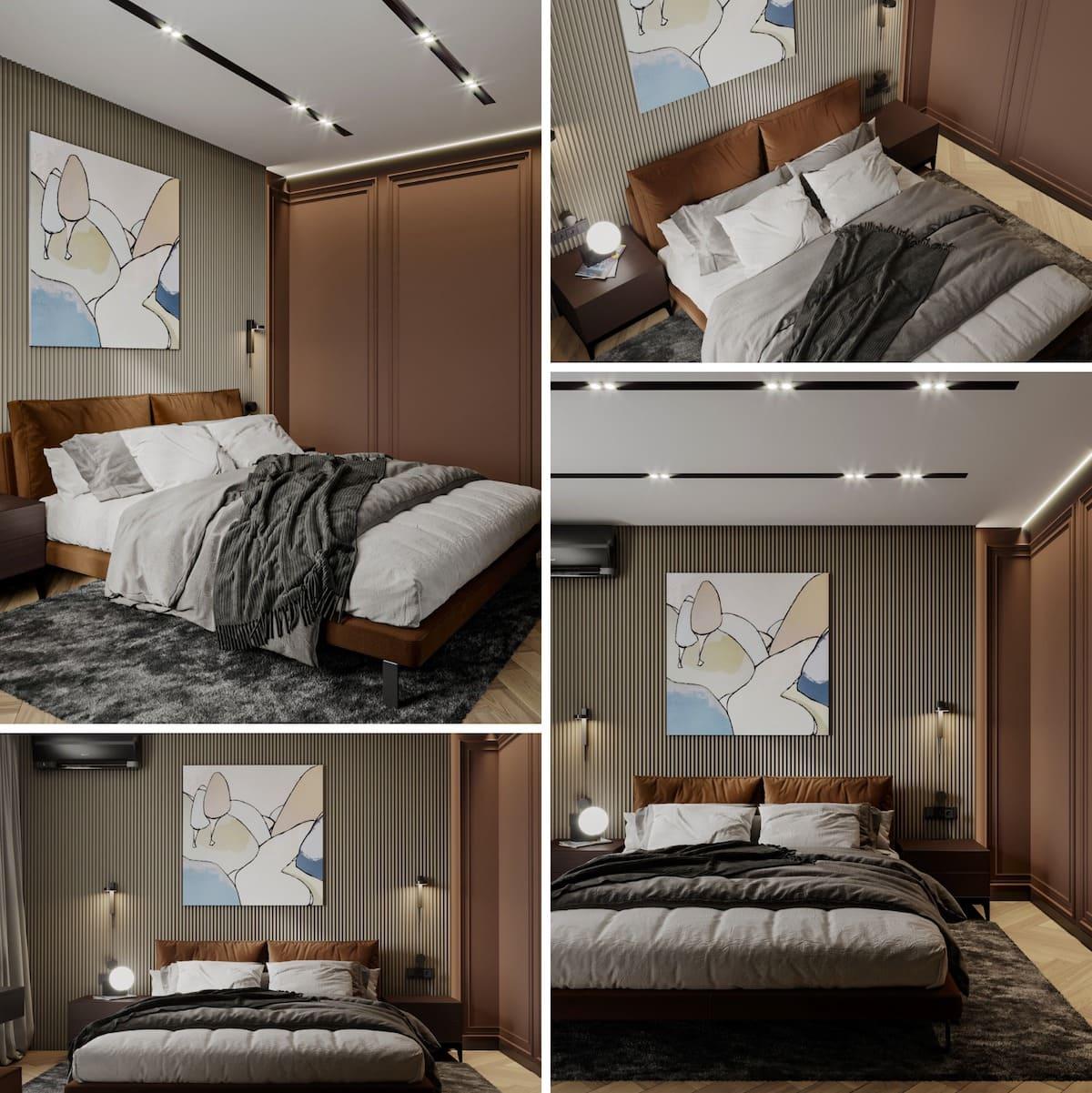 Intérieur de chambre à coucher tendance photo 14