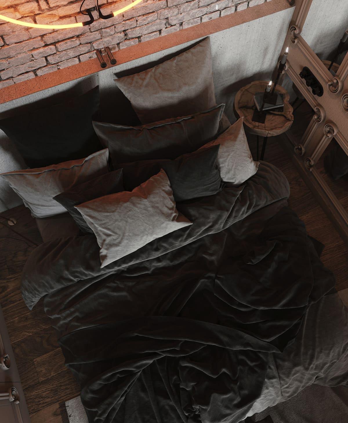 Intérieur de chambre à coucher à la mode photo 20