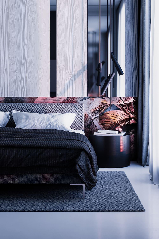 Intérieur de chambre à coucher à la mode photo 3