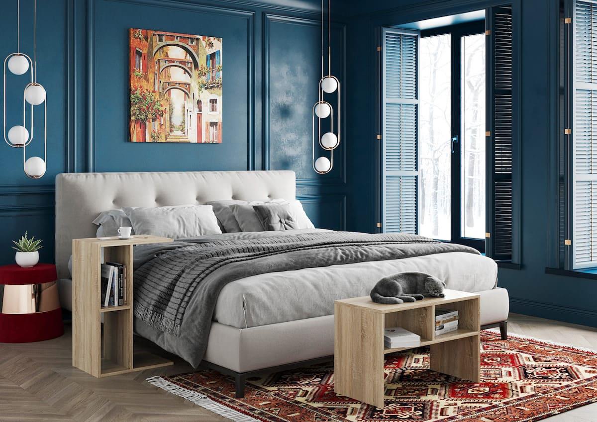 Intérieur de chambre à coucher tendance photo 44