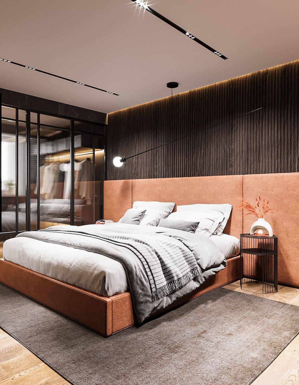 Intérieur de chambre à coucher tendance photo 12