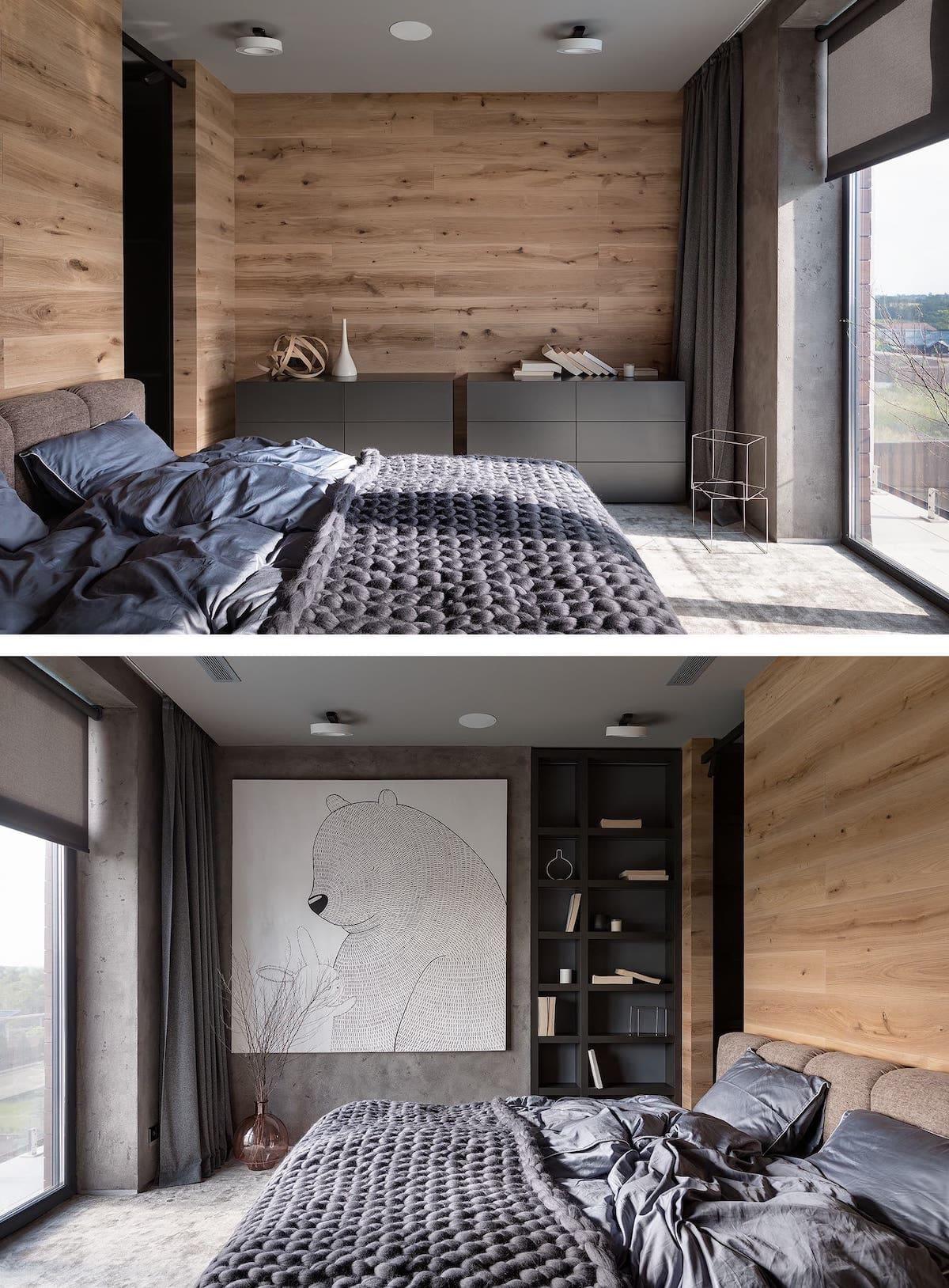 Intérieur de chambre à coucher tendance photo 24