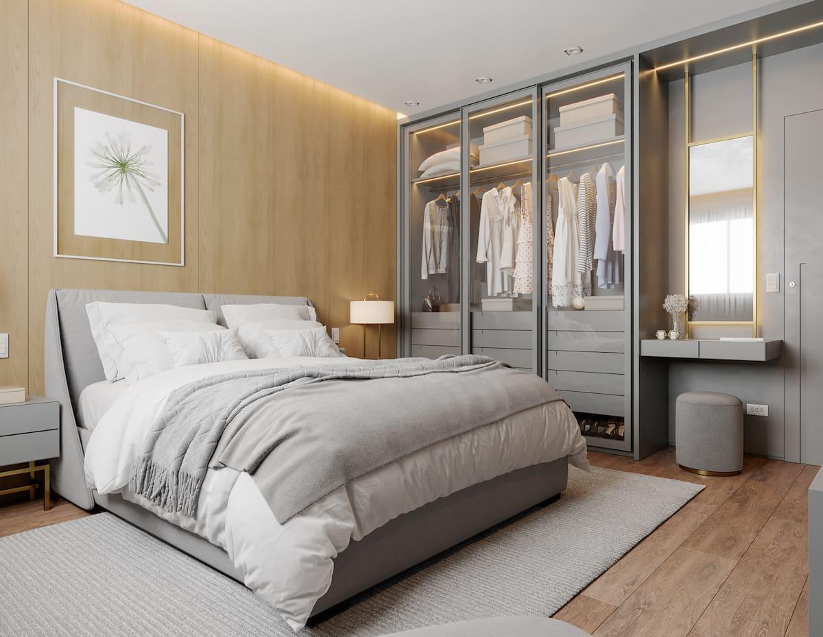 Intérieur de chambre à coucher tendance photo 32