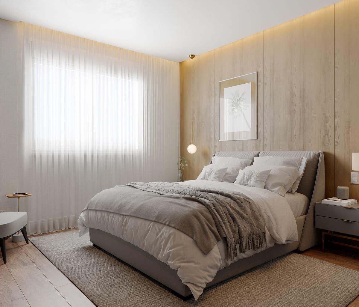 Intérieur de chambre à coucher tendance photo 34