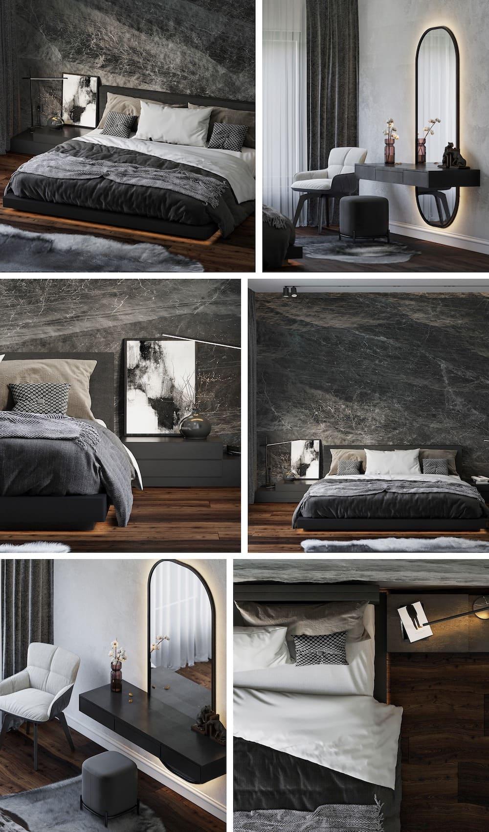 Design de chambre à coucher à la mode, photo 1
