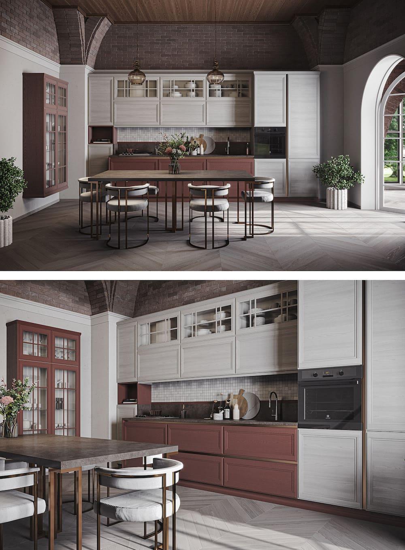 модный дизайн кухни 49
