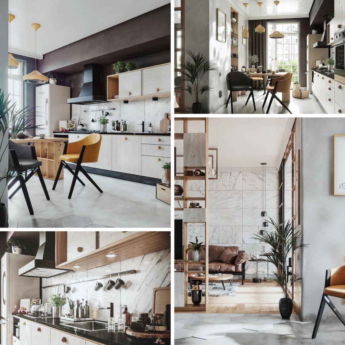 модный дизайн кухни 50