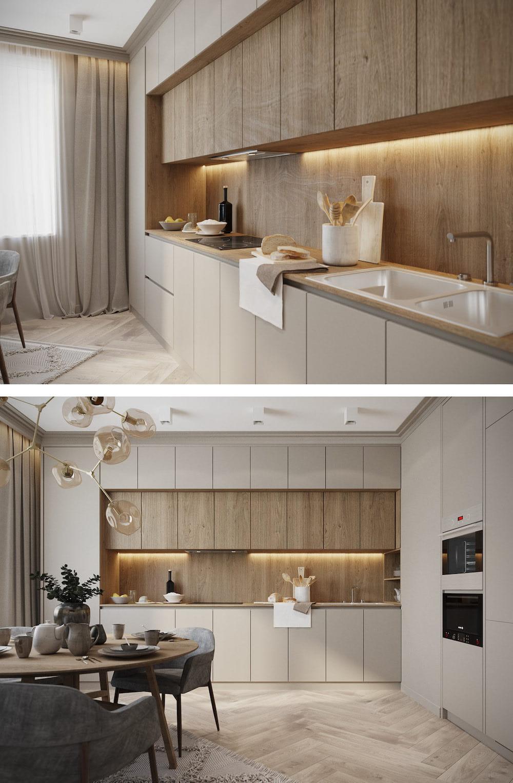 модный дизайн кухни 37