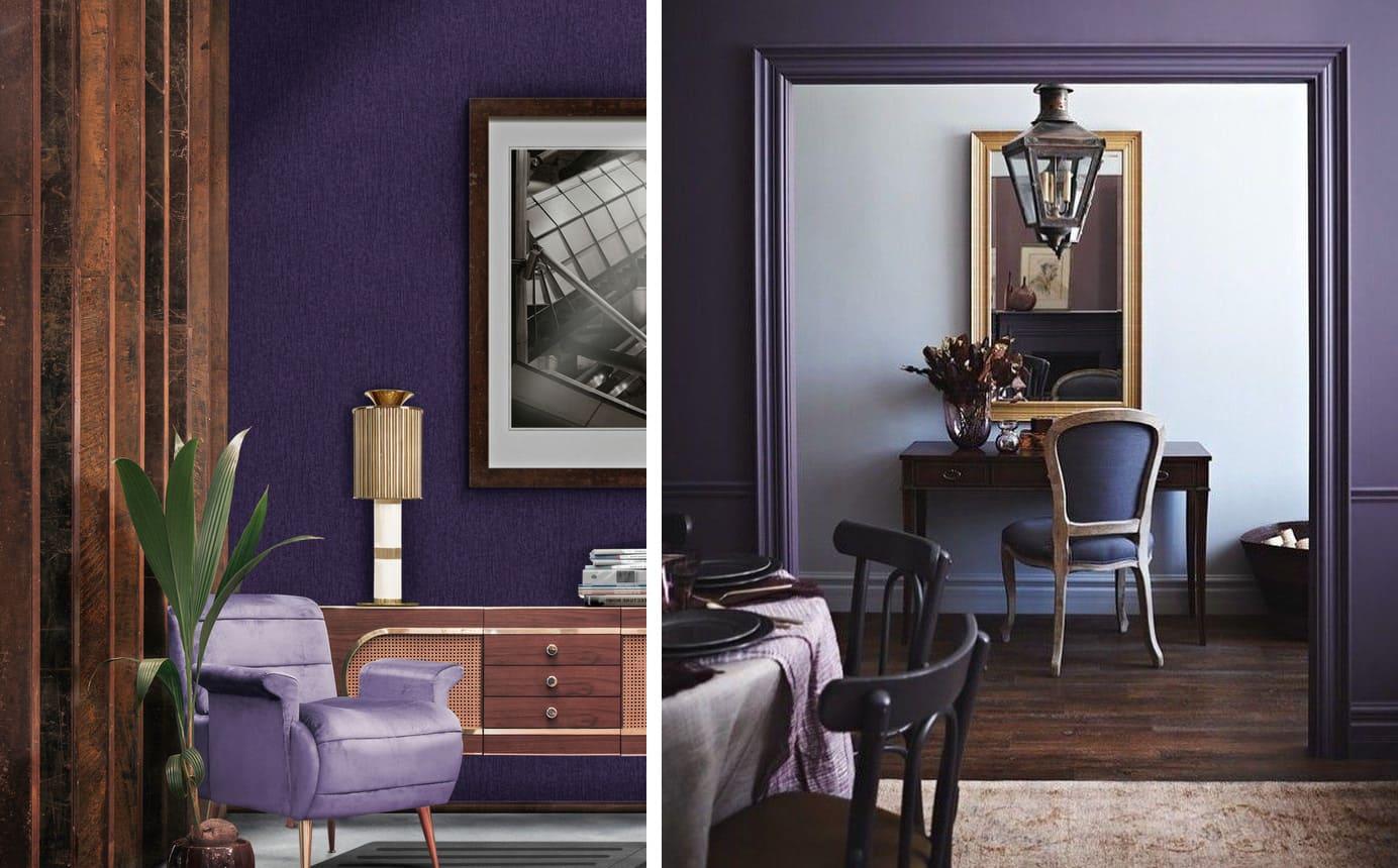 фиолетовый цвет в интерьере фото 15