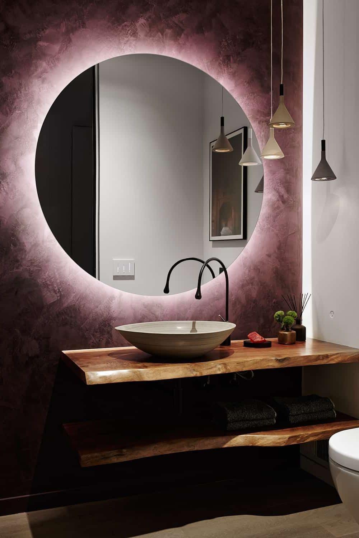 фиолетовый цвет в интерьере фото 19