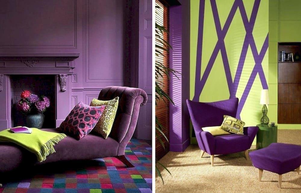 фиолетовый цвет в интерьере фото 6