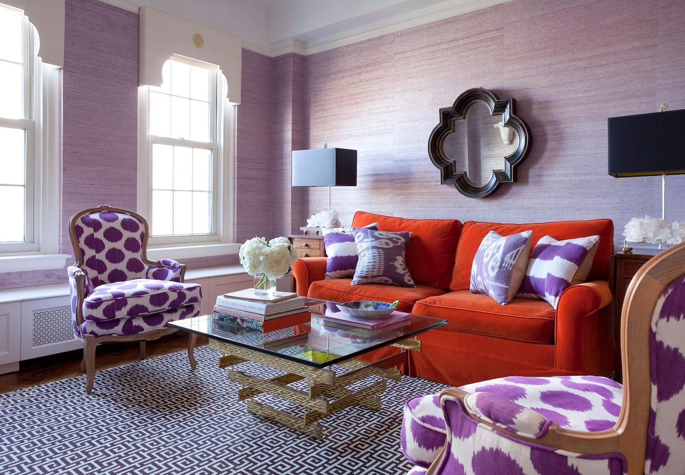 фиолетовый цвет в интерьере фото 24