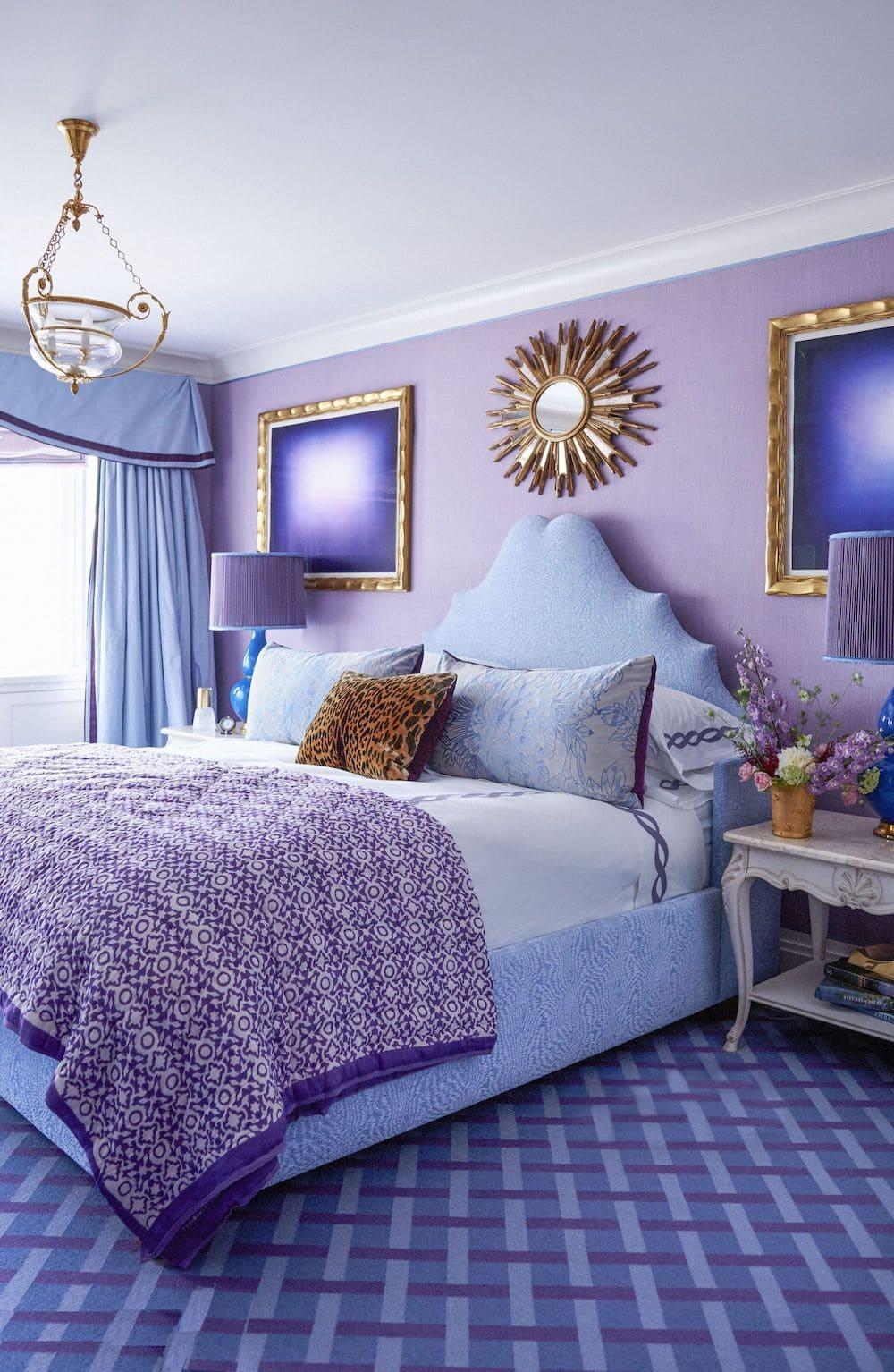 фиолетовый цвет в интерьере фото 11