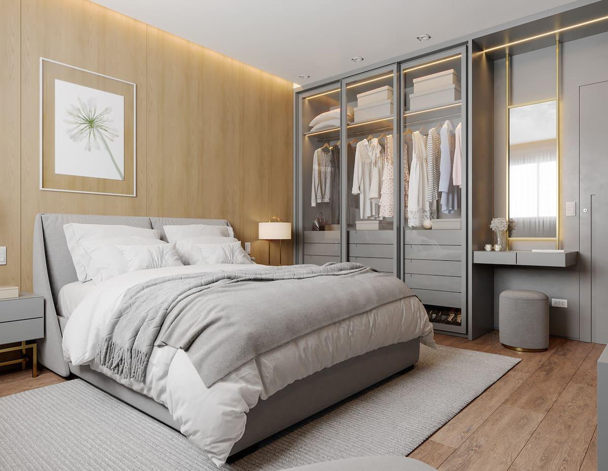 Conception d'un appartement à une chambre photo 20