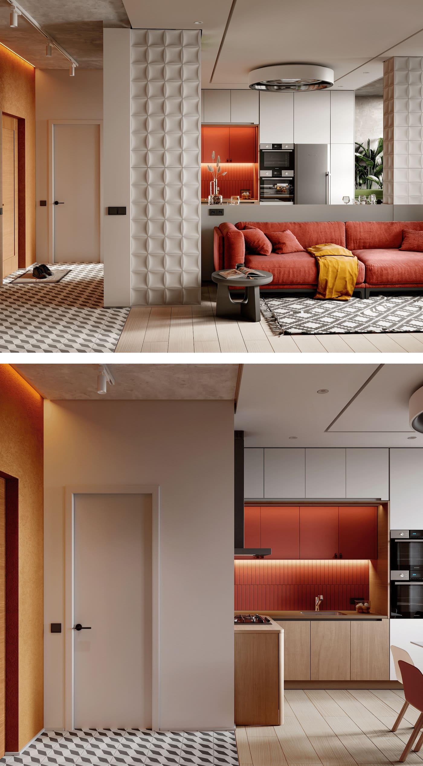 Conception d'un appartement à une chambre photo 26