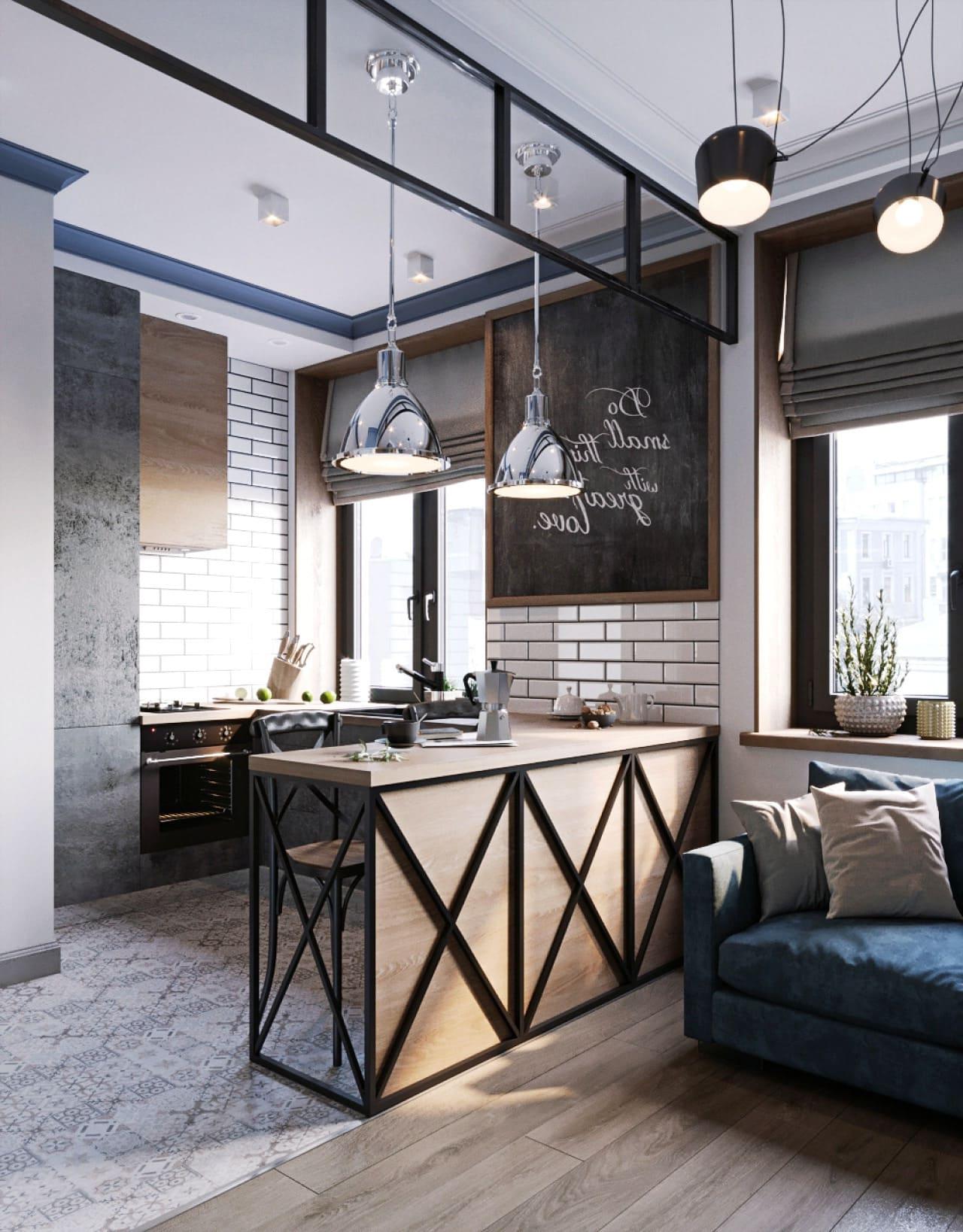 Conception d'un appartement d'une seule pièce photo 36