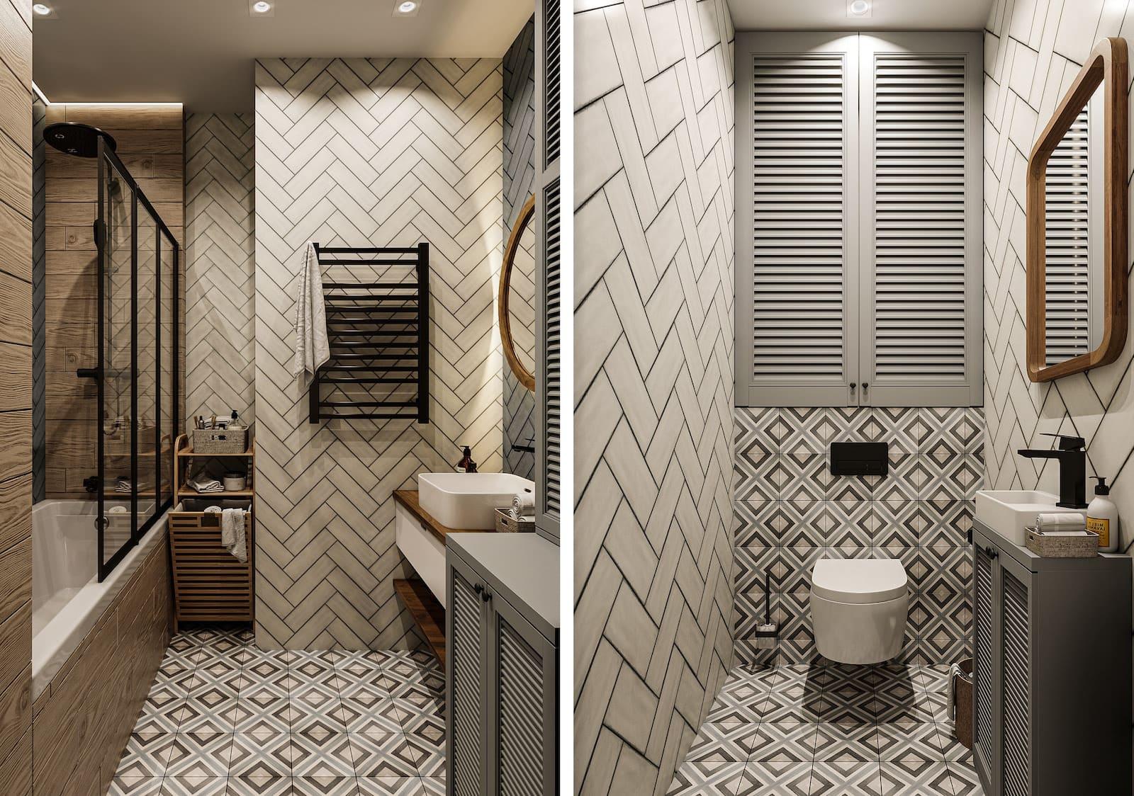 Design d'un appartement à une chambre photo 50
