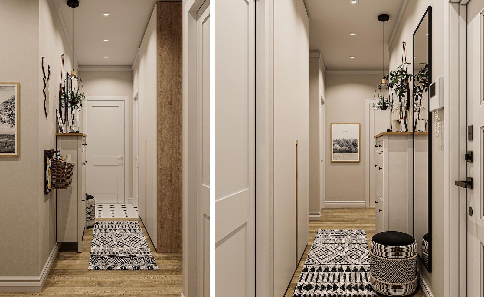 Conception d'un appartement d'une chambre simple photo 42