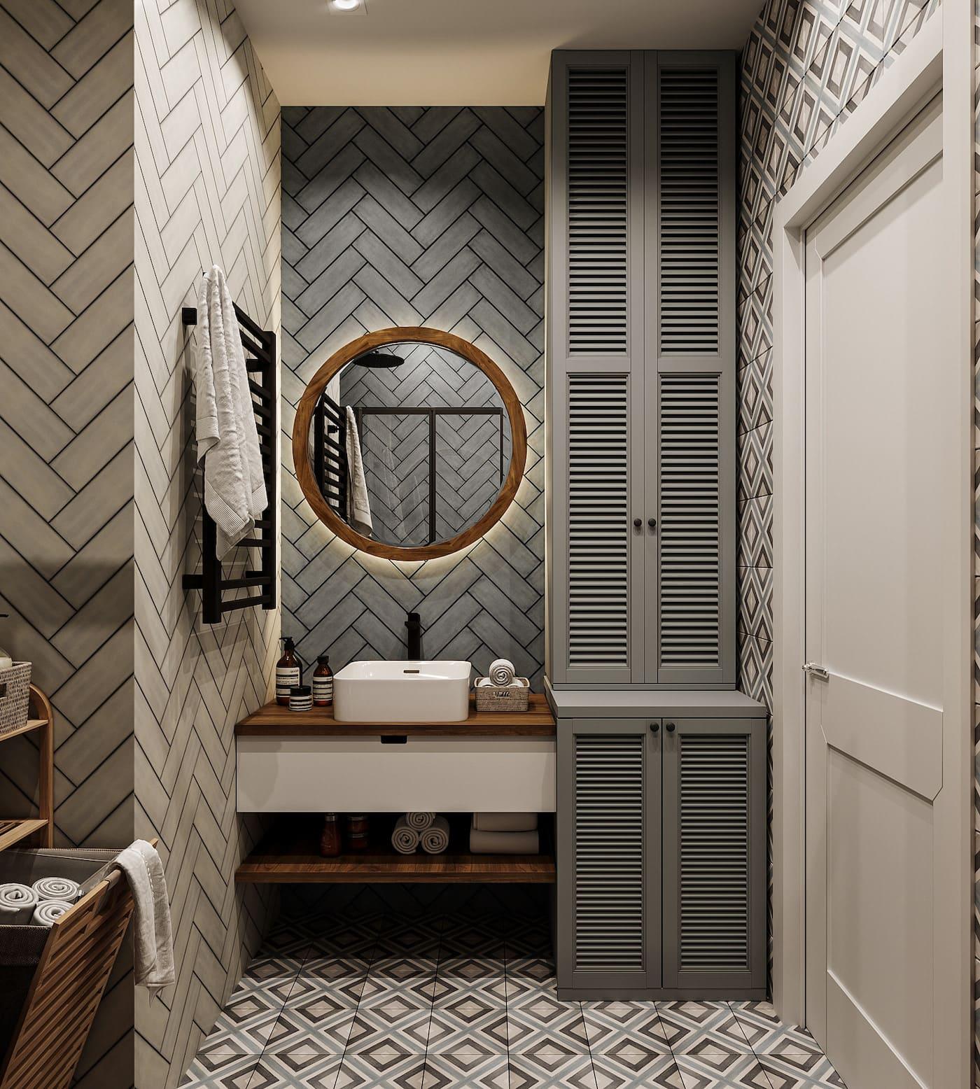 Conception d'un appartement d'une chambre simple photo 47