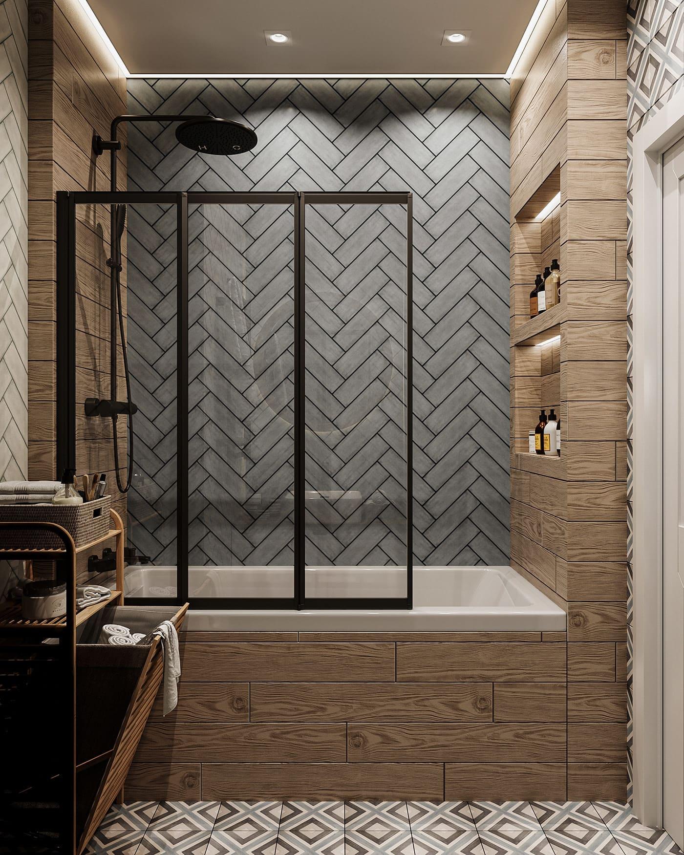 Conception d'un appartement à une chambre photo 48