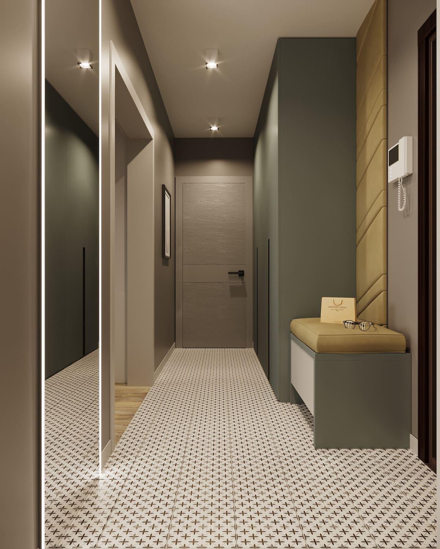 Conception d'un appartement à une chambre photo 52