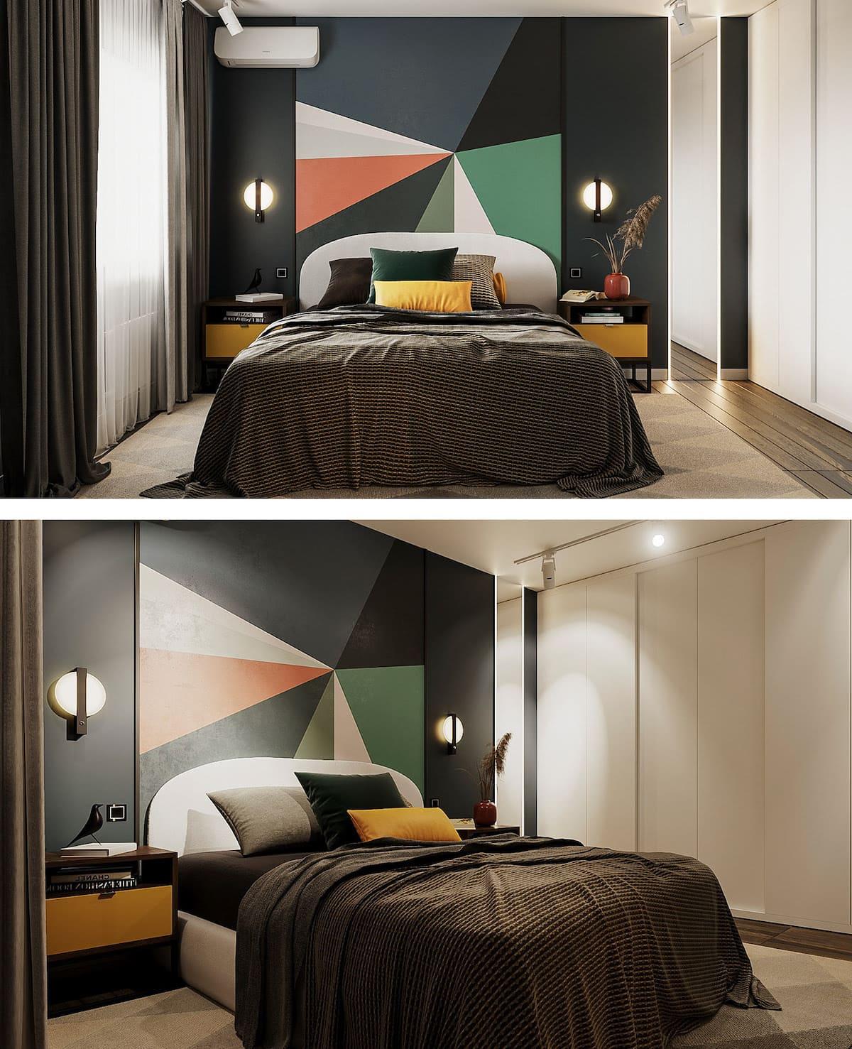 Conception d'un appartement à une chambre photo 55