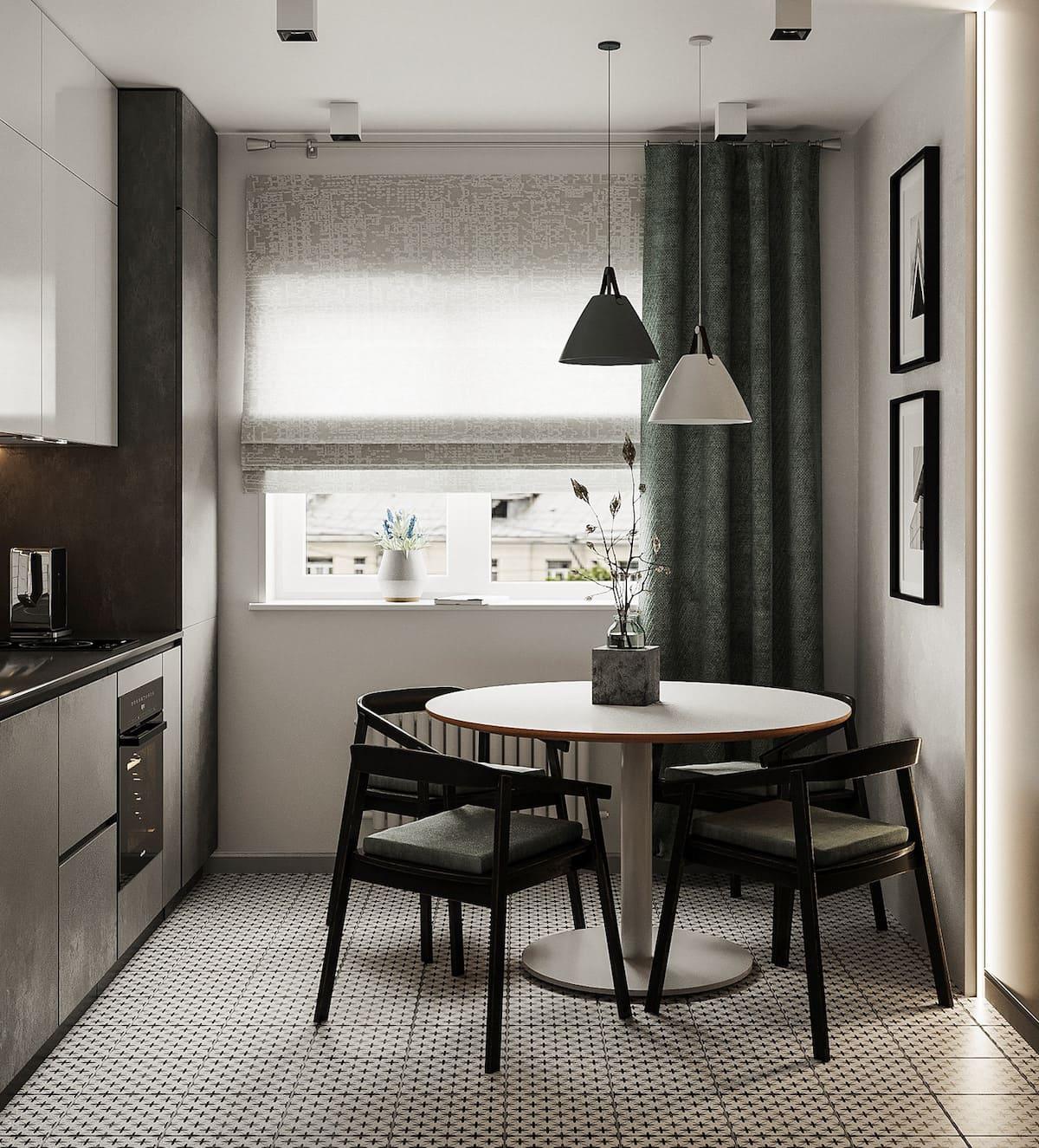Conception d'un appartement à une chambre photo 57