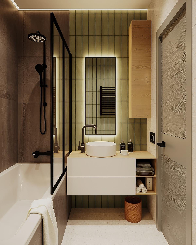 Design d'un appartement à une chambre photo 58