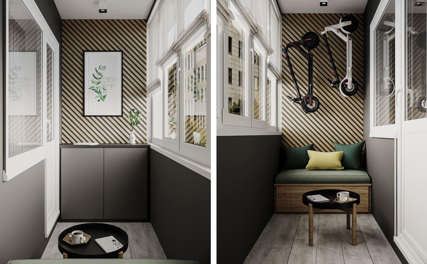 Design d'un appartement à une chambre photo 59