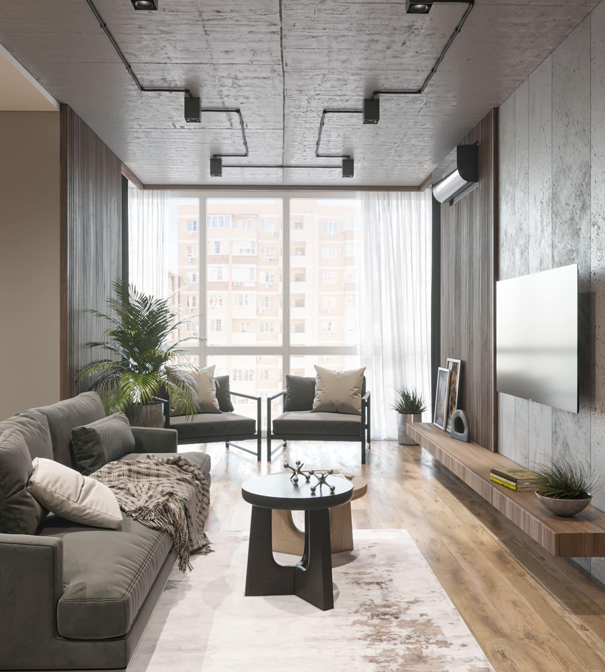 conception d'un appartement d'une pièce photo 60